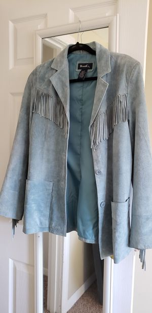 Denim & Co. fringed jacket for Sale in Tewksbury, MA