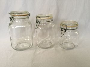 Clear Glass Jars with Clamp Lid (Storage containers) - Italy for Sale in Los Angeles, CA
