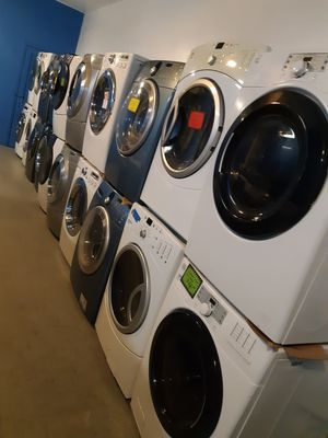 $400.00 & UP FRONT LOAD WASHER AND DRYER SET WORKING PERFECTLY 4 MONTHS WARRANTY for Sale in Baltimore, MD