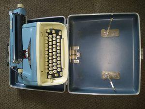 Typewriter Manual Vintage Royal Aristocrat Case 1960's Mcm Retro Blue for Sale in Steens, MS