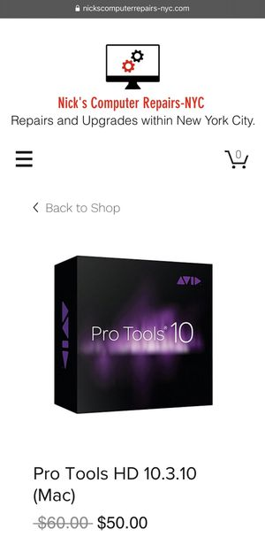 Pro Tools HD 10.3.10 for Mac for Sale in New York, NY