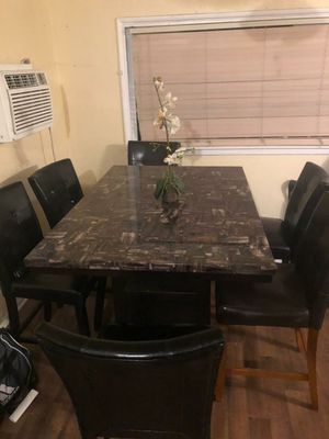 Dining Set Table with 6 chairs PICK UP $99 FIRM for Sale in Riverside, CA