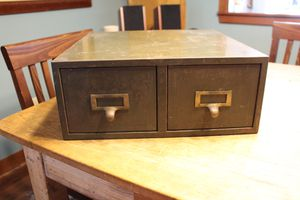Vintage card catalog for Sale in Chapel Hill, NC