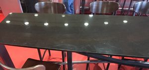 12' long high granite topped table with 12 high boy chairs for Sale in Woods Cross, UT