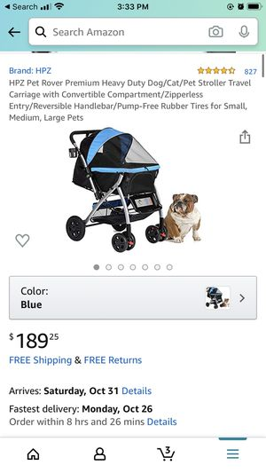 HPZ Pet Rover Stroller Travel Carriage for Sale in Redondo Beach, CA