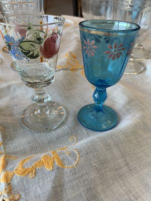 Painted vintage cordial glasses for Sale in Golden, CO