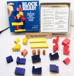 Vintage 1992 Pressman Block Head Balancing Game for Sale in Providence,  RI