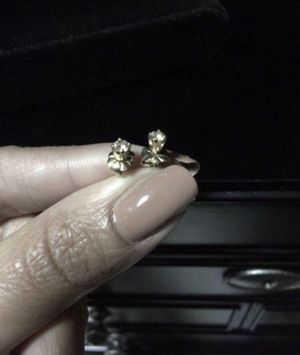 14K Yellow Gold Diamond Earrings for Sale in Madera, CA