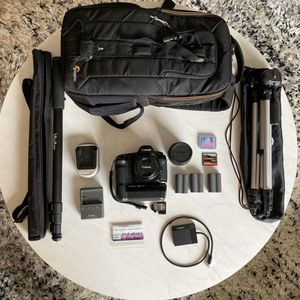 Canon 5 D Mark i Bundle 2 lenses Lowepro bag batteries etc for Sale in New York, NY