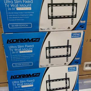 "FLAT WALL MOUNT BRACKETS UP To 55"" LED TVS for Sale in Huntington Park, CA"