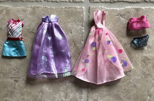 Lot of Barbie Doll clothes - dresses; skirt & play outfit for Sale in Winchester, CA