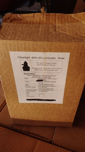 Clearlight 40w LED luminarie Wide for Sale in Portland, OR