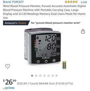 Wrist blood pressure monitor for Sale in Norco, CA