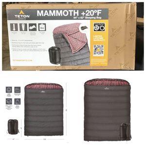 TETON Sports Mammoth +20F Sleeping Bag for Sale in Stafford, TX