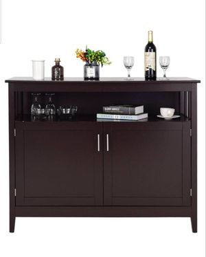 Modern kitchen storage cabinet buffet server table sideboard dining wood brown for Sale in Bakersfield, CA