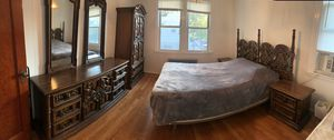 BLITZ Sale   Must go! Wood bedroom furniture set   solid, antique, regal for Sale in Queens, NY