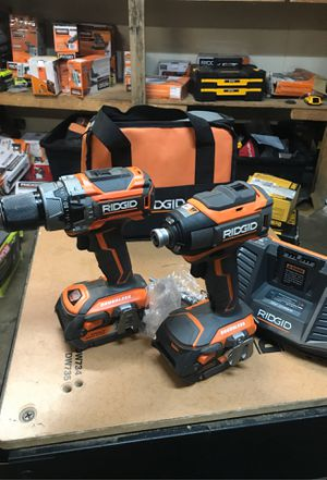 18-Volt Lithium-Ion Cordless Brushless Hammer Drill and Impact Driver 2-Tool Combo Kit with (2) 4.0Ah Batteries, Charger for Sale in Fontana, CA