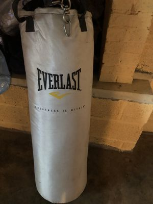 Everlast punching bag, stand, and gloves for Sale in Colonial Heights, TN