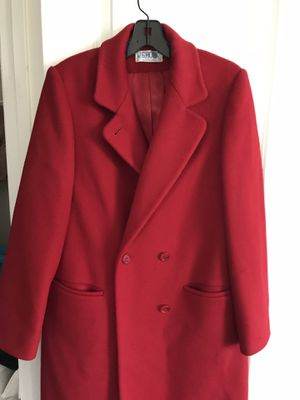 Red leather woman coat for Sale in Ashburn, VA