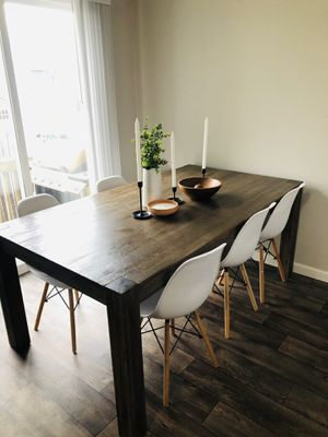 Wood dining table rustic natural farmhouse for Sale in Vancouver, WA