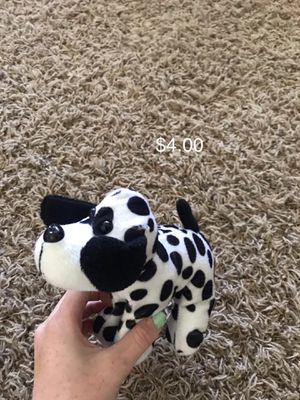 Black and white dog stuffed animal for Sale in Kaysville, UT
