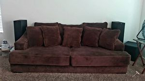 Very Well Kept Chocolate Micro Fiber Oversized Couches for Sale in Glendale, AZ