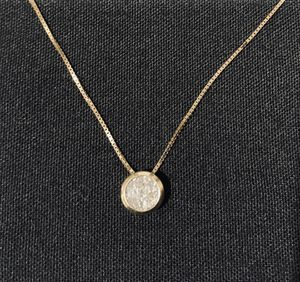 14K Yellow Gold 0.54 ctw Invisible Diamond Pendant and Chain for Sale in Carson, CA