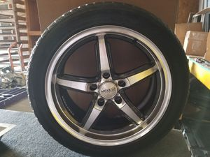 Rims tires and adapters .. 5 x 112 for Sale in Altamonte Springs, FL