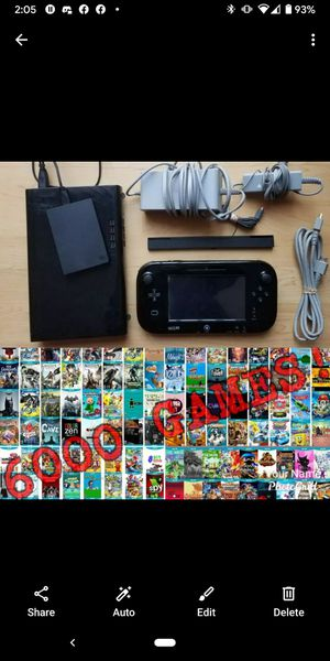 Nintendo Wii U Console Bundle with over 6000 Games Installed! for Sale in New York, NY