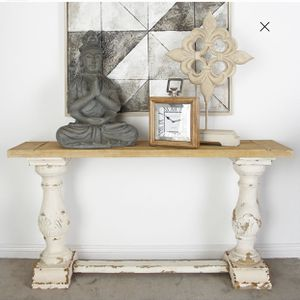 Decmode Rustic Wood Console Table same color as pictures for Sale in Melbourne Village, FL