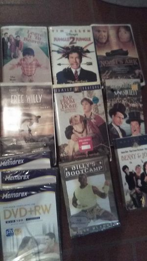 Movie lot 7 vhs classics. Billy's boot camp DVD + 3 new DVD+RW blanks for Sale for sale  Louisville, KY