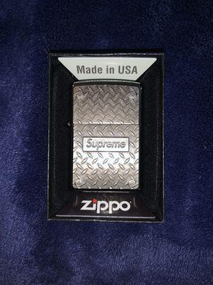 Supreme diamond plate zippo for Sale in San Antonio, TX