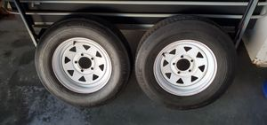 2 trailer tires and rims 40.00 each {contact info removed} for Sale in Temecula, CA