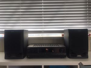 Sony FM Stereo/FM-AM Receiver STR-DH100 and Speakers for Sale in Denver, CO
