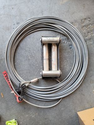100ft of winch Cable and roller Fairlead for Sale in Las Vegas, NV