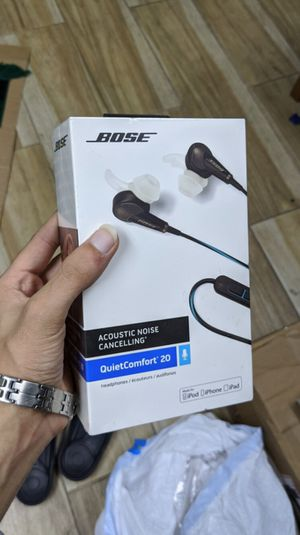 Bose - QuietComfort 20 Noise Cancelling Earbuds (iOS) Brand New in Box! One Year Warranty! for Sale in Arlington, TX