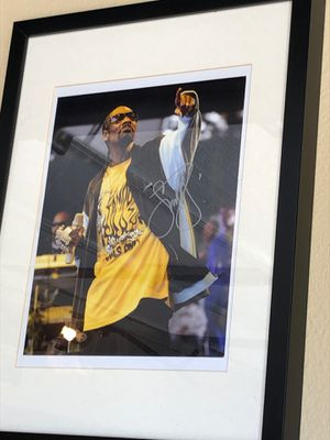 Snoop dog signed picture with COA for Sale in Chula Vista, CA