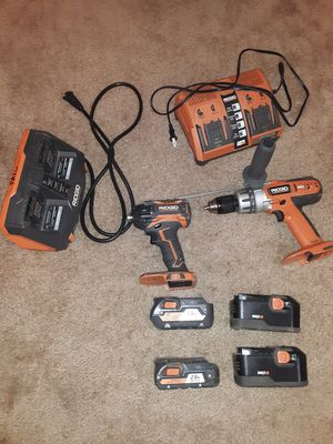 """RIDGID Brushless 18v Stealth Force 1/4"""" Impact Driver & 1/2"""" Hammer Drill for Sale in Topeka, IN"""