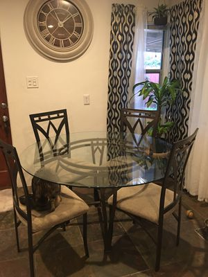 Glass table 4 chairs for Sale in Modesto, CA