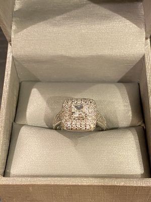 Stamped 925 Sterling Silver Engagement / Wedding Ring- Solitaire 💍- Code TH21 for Sale in Houston, TX