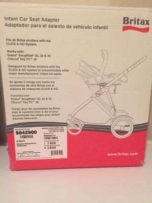 Britax infant car seat adapter (brand new) for Sale in Annandale, VA