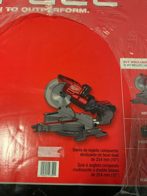 """Milwaukee 10"""" dual bevel sliding compound miter saw for Sale in Tacoma, WA"""