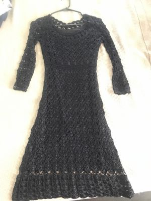 Black lace cocktail dress. Ladies size small, very gently used. for Sale in Los Angeles, CA