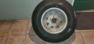 Firestone H78-14 spared tire 5 lugs galvanized alot treads $40 OBO. Or trade for size 13 o 15 for trailer. for Sale in Bradenton, FL