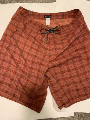 Patagonia orange plaid shorts for Sale in Falls Church, VA