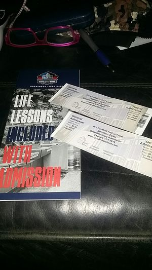 Pro football hall of fame tickets for Sale in Hudson, NC
