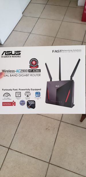 Asus gaming router ac2900 for Sale in Tampa, FL