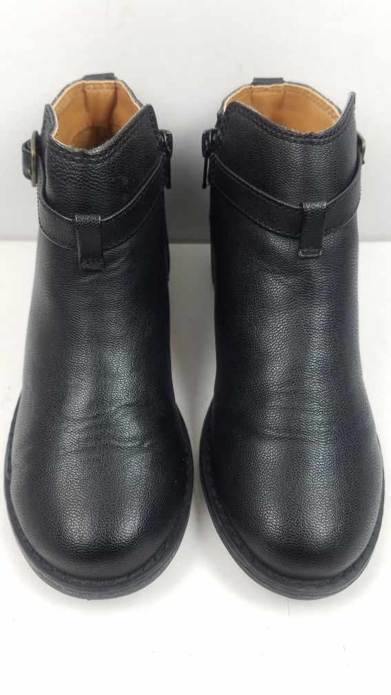 Gap Kids Youth Girl Faux Leather Ankle Buckle Black Boots Size 2