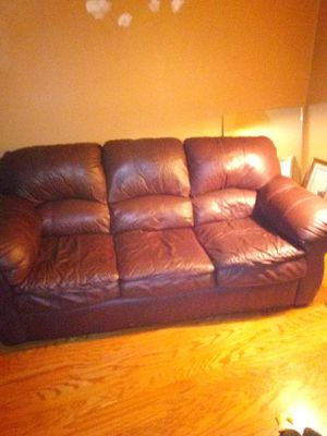 Leather Couch for Sale in Johnson City, TN