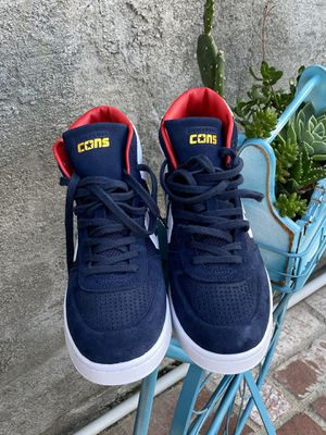 CONVERSE | MEN | HI TOP | SNAEKERS | BLUE/WHITE/RED | SIZE 9 for Sale in Gardena, CA